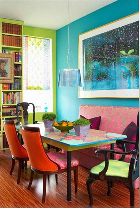 Bright Dining Room With Orange Ack Chairs Colorful Tale