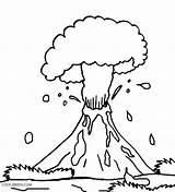 Volcano Coloring Pages Explosion Preschool Eruption Drawing Volcanic Template Hawaii Printable Hawaiian Sketch Cool2bkids Getdrawings Getcolorings Templates Pdf Popular Mountain sketch template