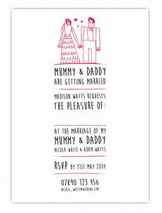 mr mrs white wedding invitation stylerdesign With wedding invitation wording mummy and daddy