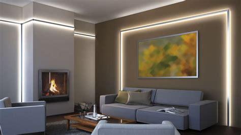 led indirekte beleuchtung fürs wohnzimmer foto wohnraum mit indirekter led beleuchtung hinter alu profilen wintergarten ideen