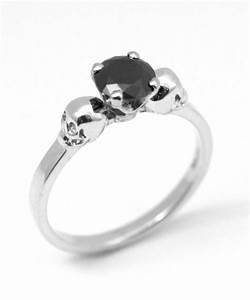Skull Ring Sterling Silver Diamond-Unique Hand Crafted ...