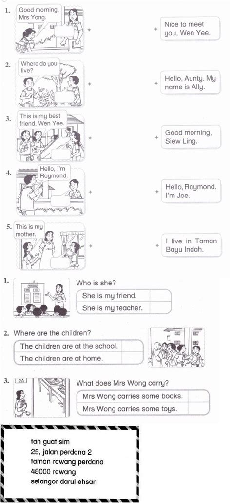 english year 2 kssr monthy test worksheet pinterest