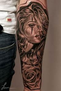 Idée De Tatouage Femme : avant bras visage de femme ~ Melissatoandfro.com Idées de Décoration