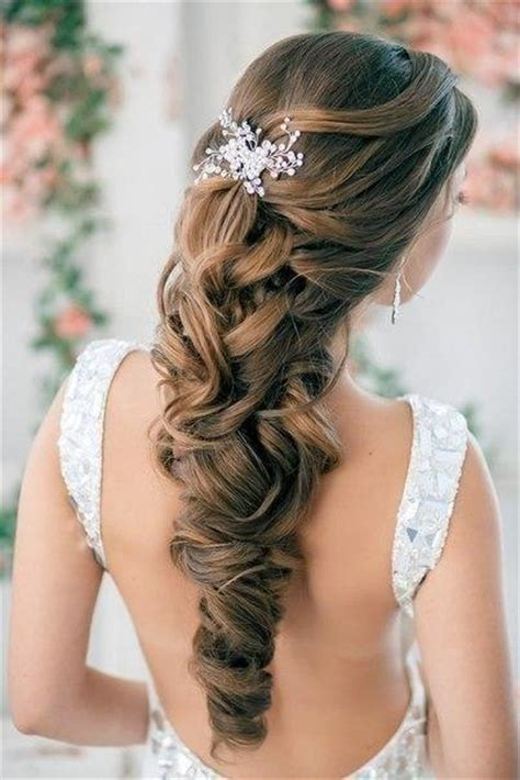 half up half down curly wedding hairstyles with silver