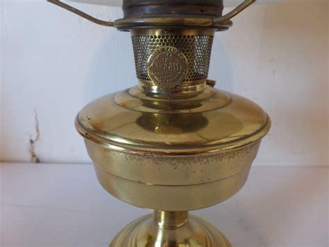 Lamp : Vintage Antique Aladdin Model 12 Brass Oil Kerosene
