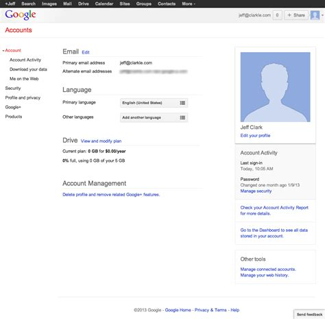 user account page examples    internet