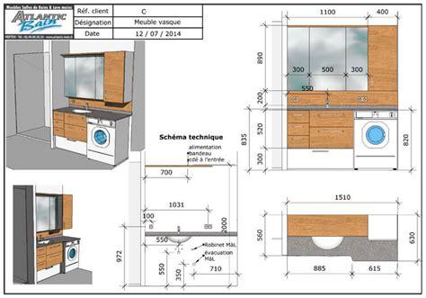 Meuble Salle De Bain Machine A Laver Integree by Un Lave Linge Dans La Salle De Bain Et Deux Meubles Sur