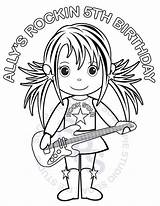 Coloring Rockstar Rock Printable Birthday Personalized Stars Favor Childrens Milf Activity Pdf Busty Favorites Template Templates Interracial sketch template