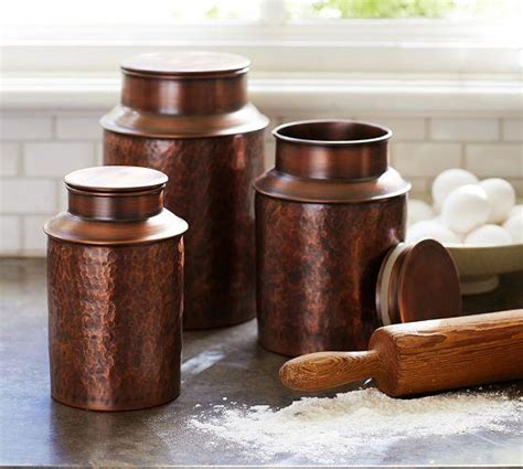 Kitchen Canisters Copper by Copper Canisters Pottery Barn