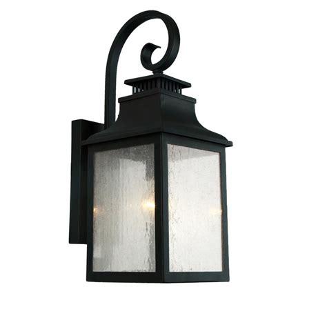 y decor morgan 1 light imperial black outdoor wall