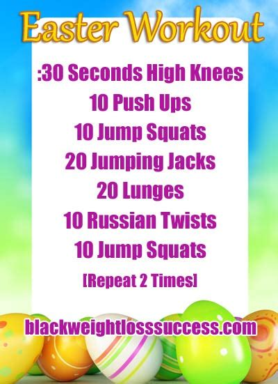 day  april challenge easter workout black weight
