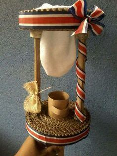 marimba tipica hecha con carto reciclado faroles