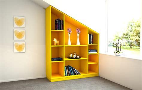 Dachschrägenregal In Gelb