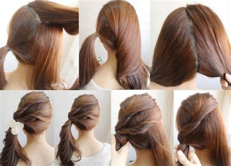 easy hairstyles for long hair to do yourself diy easy