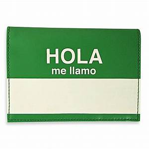 "Buy Flight 001 ""Hola Me Llamo"" Passport Wallet/Cover in"