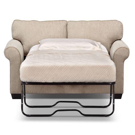 Sofa Sleeper Chair by Fletcher Memory Foam Sleeper Sofa Beige Value