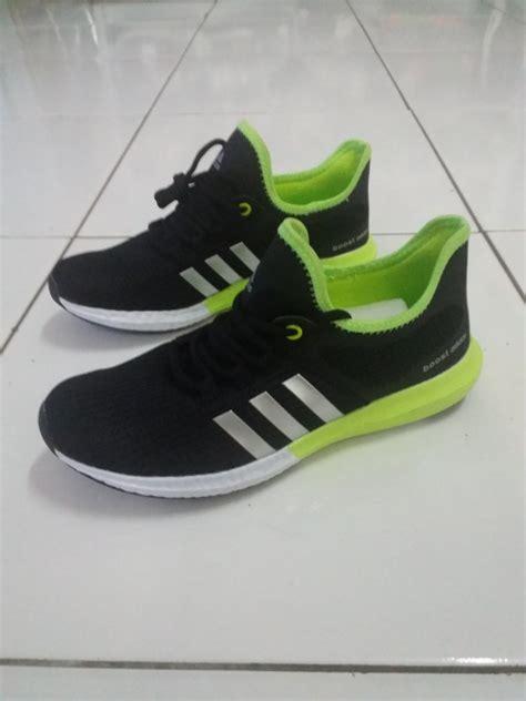 jual sepatu original adidas boost black green terjual