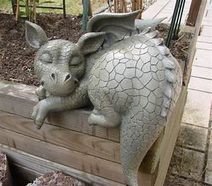 Skulpturen Für Garten : gartendrache kantenhocker drache garten figur gargoyle ebay ~ Watch28wear.com Haus und Dekorationen