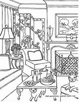 Coloring Rooms Adults Living Inside Adult Furniture Worksheet Printable Drawings Colouring Interior Fredgonsowskigardenhome Victorian Pepe Drawing Cat Cool Relaxing Pew sketch template