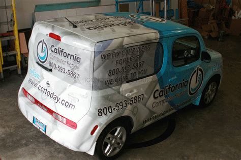 full vehicle wrap   nissan cube los angeles ca