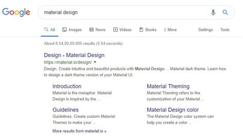 Google Search Results Page Getting Tiny Splash