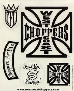 Other Motorcycle/ATV Decals :: West Coast Choppers Black ...