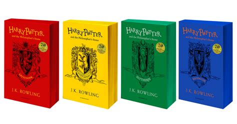 hogwarts houses colors there are now harry potter books in hogwarts house colors