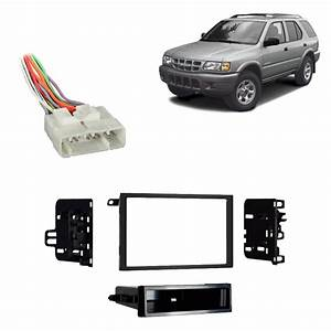 Isuzu Rodeo 1998-2004 Double Din Stereo Harness Radio Install Dash Kit Package