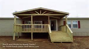 covered front porch plans covered wood deck on mobile home studio design