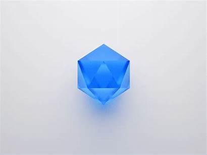 Gem Icon Diamond Rotating Dribbble Glass Crystal