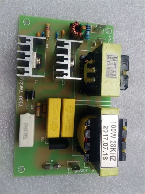 free shipping 100w 28khz ultrasonic cleaning power driver board ac 220v in ultrasonic cleaner