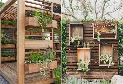 Sichtschutz Terrasse Ideen by Sichtschutz Und Pflanzkasten Aus Holz Garten Ideen