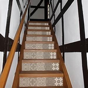 Carreaux De Ciment Autocollant : sticker autocollant carreaux de ciment beige pastel pour ~ Premium-room.com Idées de Décoration