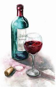Bottle of red wine with glass. Wine cork laying next to ...