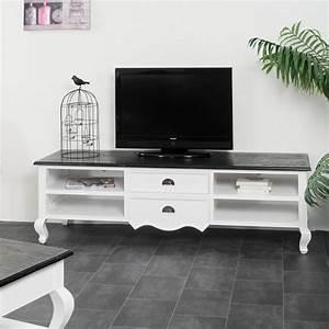 Meuble Salon Blanc : meuble tv baroque meuble tv acajou blanc rectangle ~ Dode.kayakingforconservation.com Idées de Décoration