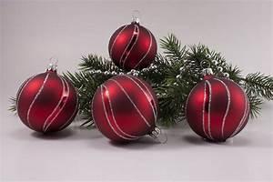 Weihnachtskugeln Aus Lauscha : rot matt antik silber christbaumkugeln ~ Orissabook.com Haus und Dekorationen