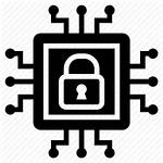 Icon Security Chip Internet Icons Microchip Web
