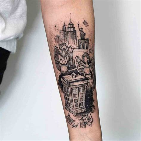 Weeping Angels Tattoo Doctor Who  Best Tattoo Ideas Gallery
