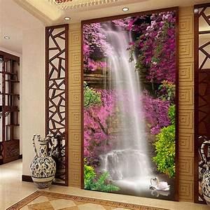 Waterfall swan photo wallpaper custom d natural