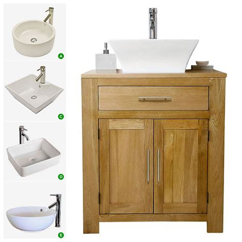 Bathroom Sink And Unit by Solid Oak Vanity Unit With Basin Sink 700mm Bathroom