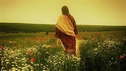 Walking Alone Christ Behind Through Storyblocks Poppy