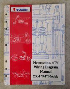 2004 Suzuki Motorcycle  U0026 Atv Wiring Diagram Manual  U0026quot K4