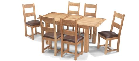 dining table and 6 chairs constance oak 140 180 cm extending dining table and 6