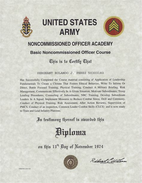 army basic noncommissioned officer  nco academy