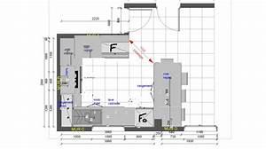 les projets implantation de vos cuisines 8868 messages With plan d appartement 3d 7 cuisine lineaquattro en u