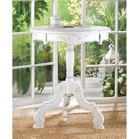 cottage chic store shabby chic white wood end side table stand