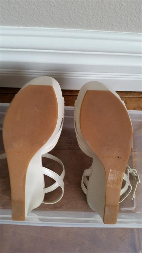 bone color shoes charles keith bone color light beige wedges on