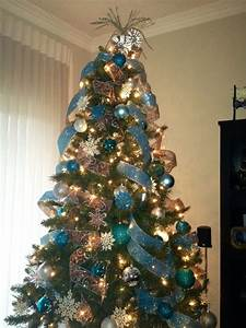 christmas tree ribbon decor blue | AK love