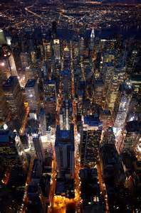 NYC Aerial Night View
