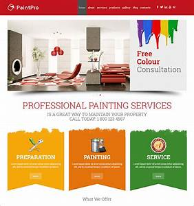 Paint Company Brochure Painting Wordpress Templates With